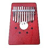 XSWY 10 Claves Kalimba pulgar piano de alta calidad de la madera de caoba del cuerpo del instrumento musical de Adoult y Niño que usa Fácil de usar (Color : Walnut Color)