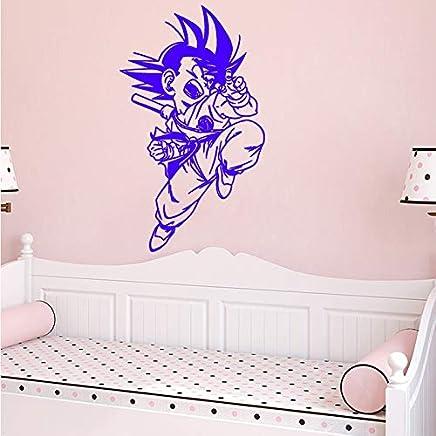 Manga Anime Wall Sticker Son Goku Decal Japonais Vinyle Maison Intérieur  Chambre Décor Art Mural Porte