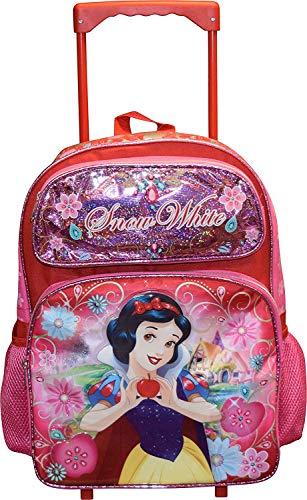 "Disney Princess Snow White 16"" Softside Rolling Luggage Wheeled Backpack California"