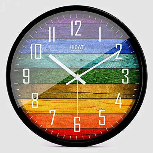 yrfchgj Creative Glass Wall Clock Modern Design Large 3D Large Wall Clocks Luxury London Kitchen Nordic Clock Nixie Home Decor-14 inch