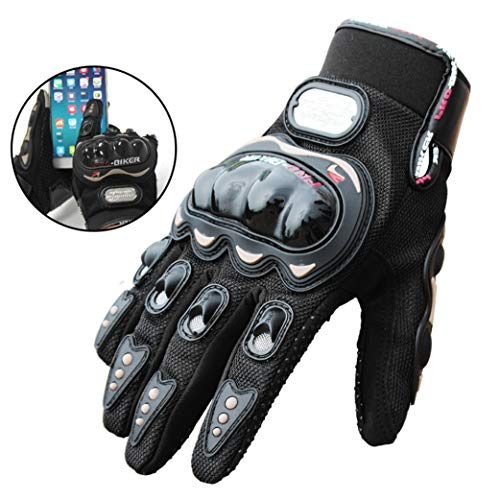 Riding Tribe Touch Screen Gloves Motorcycle Gloves All Season Hard Shell Knuckle Protective...