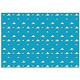 Allenjoy Cielo azul nubes blancas telón de fondo de dibujos animados niños fiesta de cumpleaños niño baby shower fotografía fondo postre mesa banner foto estudio accesorios 8x5ft