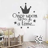 57 * 60cm princesa corona pegatinas de pared para niñas dormitorio cabecero...