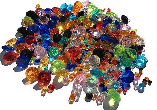 450pezzi miscela disegno glitzernde Deko diamanti strass pietre Strass Pietre in Acrilico 11mm + 5mm + 3mm fai da te gltzer pietre Strass per decorare von Crystal King