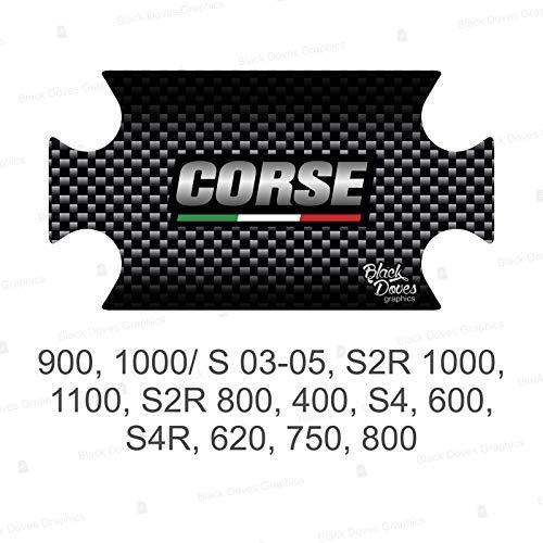 Adesivo Resinato Protezione PIASTRA STERZO compatibile con DUCATI MONSTER 900 1000 / S 03-05 S2R 1000 1100 S2R 800 400 S4 600 S4R 620 750 800