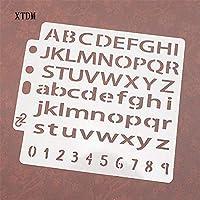 英語のアルファベットの盾DIYケーキスクラップブックステンシル中空装飾印刷レース定規バレンタインデー