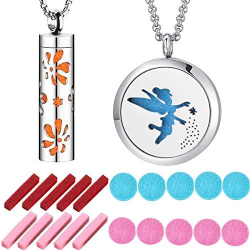 TANGGER 2 STK Aromatherapie Hanger Diffusers voor Kettingen Armbanden Auto Aromatherapie met 11 Vulblokken,Cadeaus voor Meisjes en Moeders