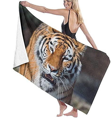 Tiger_Open_Mouth_Muzzle_Predators_Big_Cat_56654_1280x720 Toallas de Playa Toallas de Piscina de SPA súper absorbentes de Secado rápido para Nadar y al Aire Libre 80x130cm