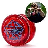 YoyoFactory SPINSTAR Yo-Yo - Rouge (Idéal Yoyo pour Les débutants, Ficelle Et Instructions Incluses)