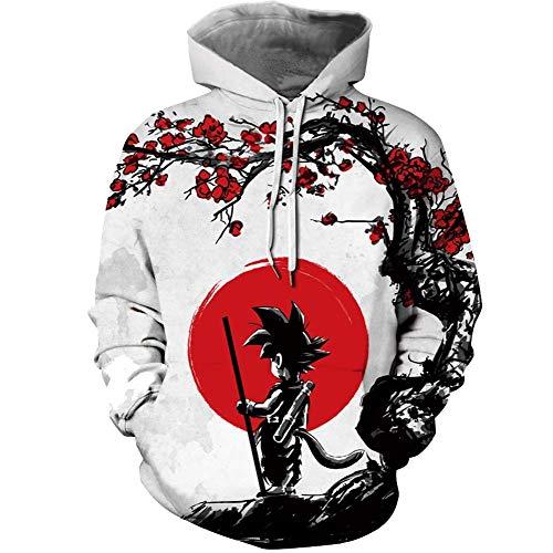 Unisex DBZ for Men Dragon Ball z Hoodies Sweatershirts Goku Pullover Jackets Kuririn Shirts Sweater Clothes Merch Figures Party Supplies Gifts Shenron Naruto Akatsuki Itachi Stuff L Gray