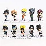 Barato Naruto Uchiha Madara Sasuke Kakashi Sakura Gaara Haku Momochi Zabuza PVC Figuras Juguetes 10 unids / Set