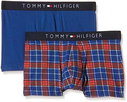 Tommy Hilfiger Underwear Icon Trunk 2 Pack Check Intime, Multicolore, M Homme