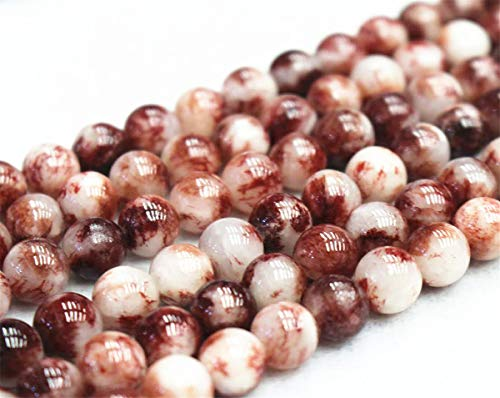 Perles de jade rondes et lisses de 6 mm, 8 mm, 10 mm, 12 mm.