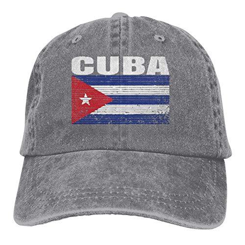 Gorras de béisbol ajustables con diseño de la bandera nacional cubana de Cuba Negro Color I Taille unique