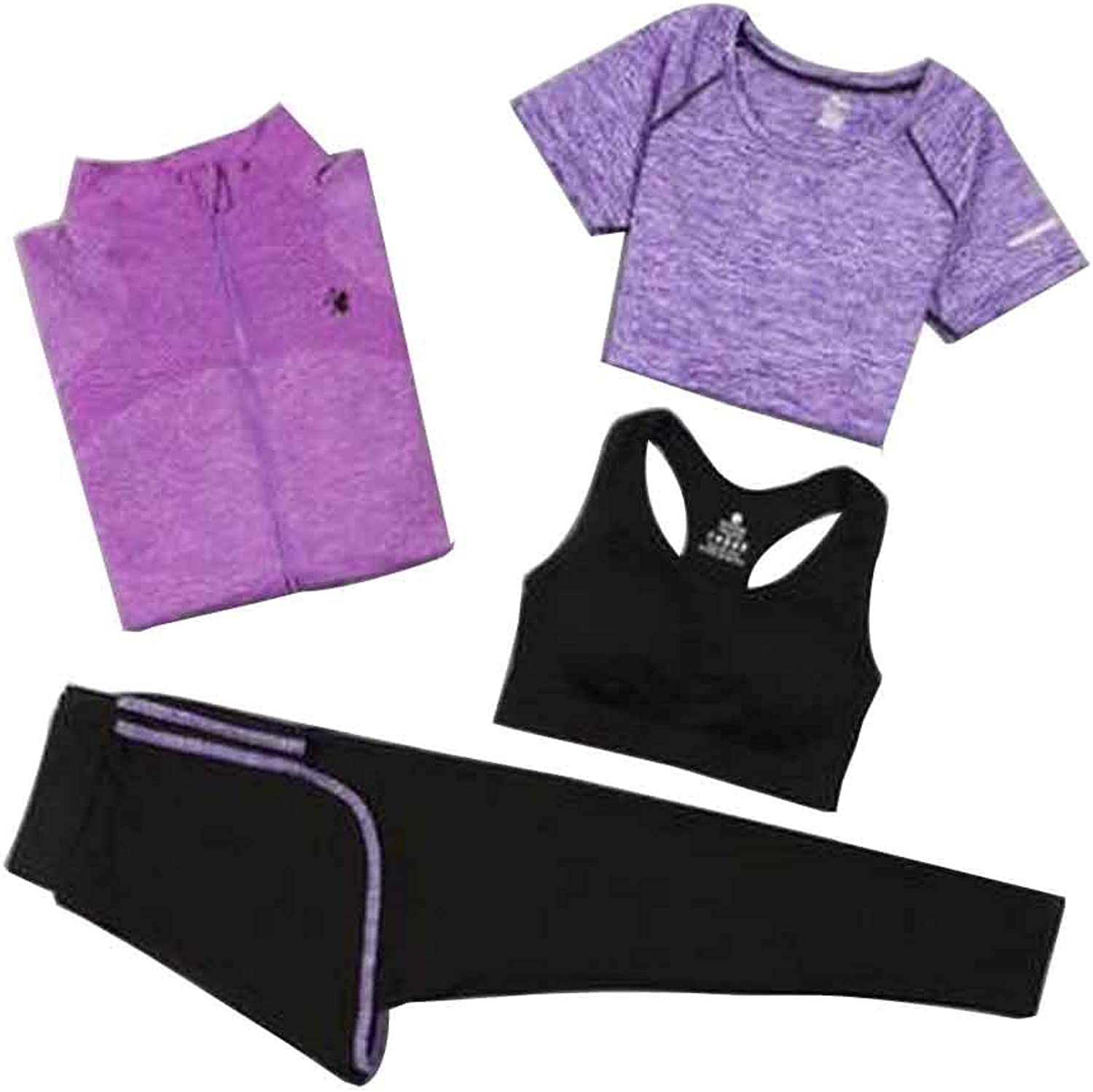 Sport Suit for Women Quick Drying Clothing for Ladies Yoga Clothing [M]