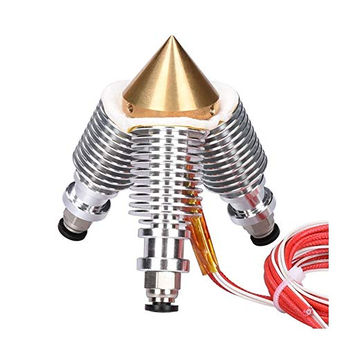 20203D Printer Accessories BIQU Brass Diamond Extruder Reprap Hotend 3D V6 heatsink 3 IN 1 OUT Multi Nozzle Extruder 3D printer kit for 1.75/0.4mm WScheng (Size : Only Nozzles)