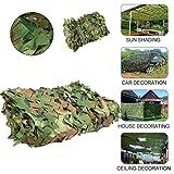 Red de camuflaje militar 210D de 4 x 5 m, tela Oxford, refugio de camuflaje para la caza y la decoración de campamentos al aire libre para acampar militar, caza, cubierta de jungla, color delete, tamaño 2x10m/6x32ft