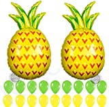 Large Pineapple Balloons for Pineapple Party Decorations -32 Inch | Pineapple Foil Balloon | Pineapple Birthday Party Supplies for Hawaiian, Tropical, Luau Theme Birthday, Bachelorette, Baby Shower