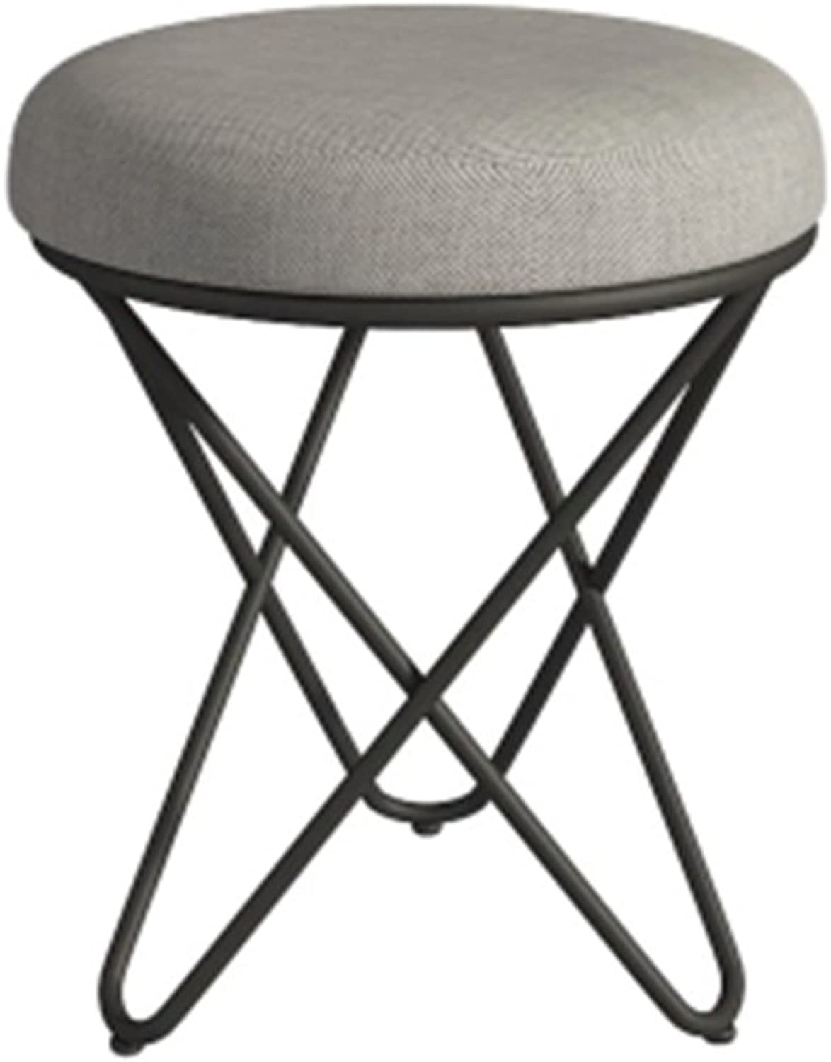 AJZGF Iron Short Stool, Fabric Change shoes Makeup Stool - Small Stool (color    2)