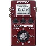 Zoom MS-60B - Pedal Multiefecto para Bajo, Rojo