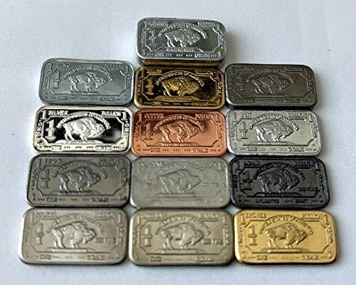 Set de coleccionismo de 13 metales (1 gramo y 15x8mm): Plata