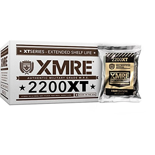 XMRE 2200XT 24hr Ration, Shelf Stable, Fully Cooked Ready to Eat Meal Kit - No Refrigeration - Great for Camping, Backpacking or Disaster Preparedness Case includes 6 Full Meals