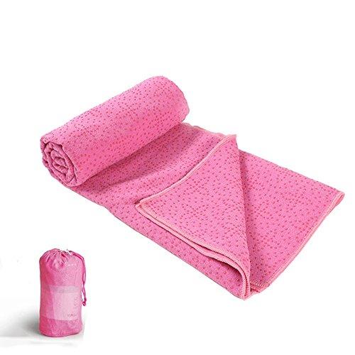 Microfibra + PVC dispenser Yoga Shop Asciugamano antiscivolo Yoga coperta di sudore allungato Misure fitness allungati