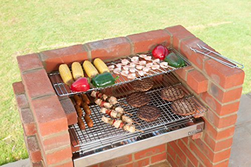 BLACK KNIGHT BARBECUES BKB 503 67 x 39 cm Deluxe Barbecue kit – en Acier Inoxydable