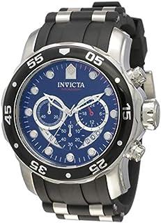 Reloj de poliuretano negro dial de cronógrafo de hombre de colección Pro Driver Invicta 6977