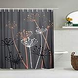 RUBEITA Personalisierter Duschvorhang,Distel schöne Blumen Design,wasserabweisender Badvorhang für das Badezimmer 180 x 210cm