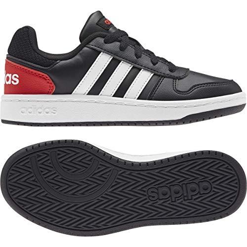 adidas Hoops 2.0 K, Zapatillas de Baloncesto, NEGBÁS/FTWBLA/Rojint, 30.5 EU