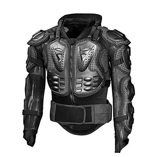 QWERTU Protector de la Armadura de Cuerpo Completo de la Motocicleta, Chaqueta de la Camisa del Guardia de Motocross de Pro Street, con protección para la Espalda