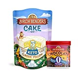 Birch Benders Keto Classic Yellow Cake Mix, 10.9oz and Keto Chocolate Frosting, 10oz, Bundle (1...