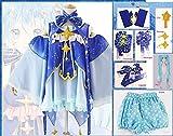 Vocaloid Hatsune Miku Cosplay Lolita Disfraz Vestido + Pantalones Cortos + Pajarita + Guantes + Peluca Conjunto Completo Star Princess Snow Miku Disfraces Disfraces L Disfraz Y Peluca