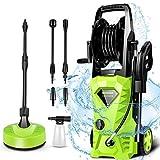 Joneat 140 bar limpiador de alta presión, caudal: 425 l/h con dispensador de manguera limpiador de superficies