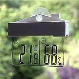 fomccu Digital termómetro hidrómetro Indoor Outdoor Estación meteorológica con ventosa