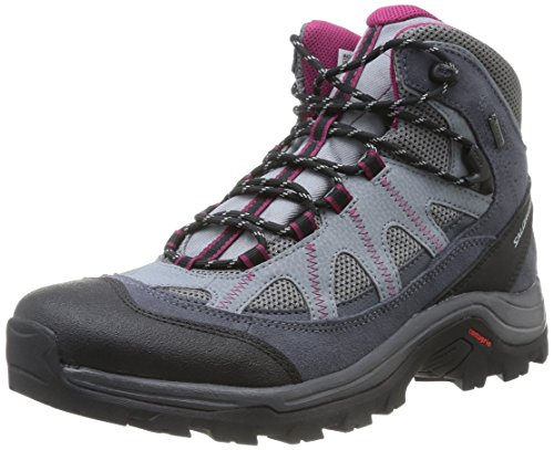 Salomon Salomon Damen Authentic Ltr GTX W Trekking- & Wanderstiefel, Grau (Pearl Grey/Grey Denim/Mystic Purple 000), 43 1/3 EU
