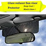 Car Window Shade Static Cling-on Sunshade to Block Sun Glare, Harmful Heat, UV Rays, Sun Glare Reducer Cling Window Shade Protect Driver Baby Child Or Pet's Eyes- Black Static Cling Film Design 1PC