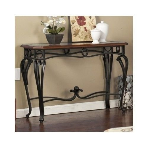Wildon Home Prentice Console Table This Beautiful Antique Style Table Will Look Great In Any Room Guaranteed. This Decorative Glass Top Table Will Look Great In Your Foyer Or Entryway. This Versatile (Dark Cherry)