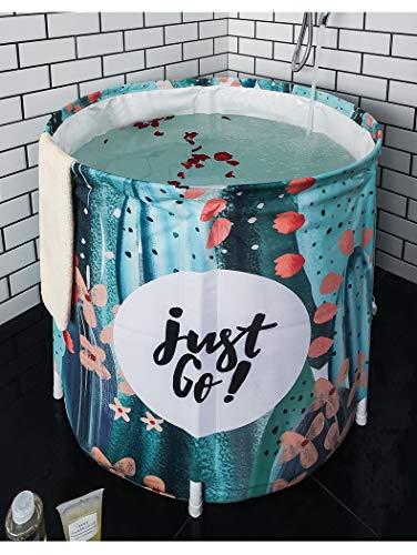 Badewanne Erwachsene Nicht aufblasbare Badewanne tragbare Falten verdicken umweltfreundliche Tuch tief einweichen Körper Bad Barrel