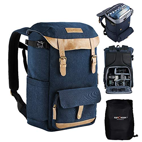 K&F Concept Waterproof Camera Backpack with Rain Cover, Large Capacity DSLR...