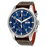 Iwc reloj de hombre automático 43mm correa de cuero caja de acero iw377714