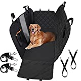 PEDY Dog Seat Cover with Hammock, 100% Waterproof Back Seat Cover Nonslip 600D