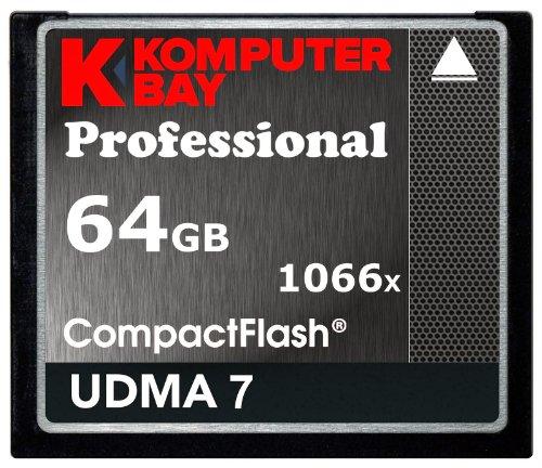 Komputerbay 64GB Professional Compact Flash Card 1066X CF Write 155MB / s Read 160MB / s Extreme Speed UDMA 7 Raw