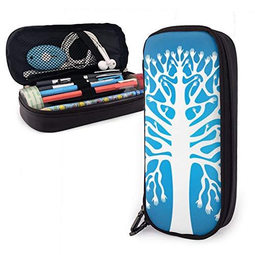 Estuche de almacenamiento de gran capacidad para bolígrafos y lápices, bolsa de almacenamiento de escritorio con cremallera para suministros escolares y de oficina