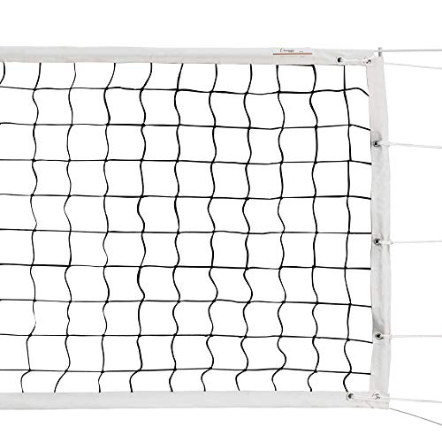 Champion Sports Official Volleyball Net Set, Olympic-Sized 32 x 3 ⅛ feet, 3mm Nylon Netting, for Tournament Play - Durable, Professional Volleyball Nets - Premium Volleyball Training Equipment