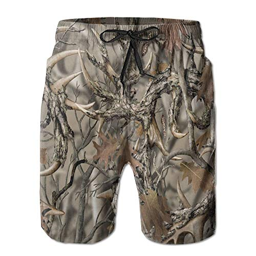 New Realtree Camo Men's Beach Shorts with Pockets Quick Dry Summer Shorts Swim Trunks