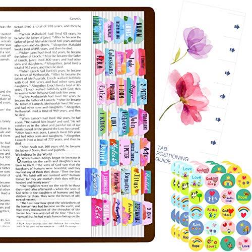 105 PCS Bible Indexing Tabs Set,80 PCS Christian Faith Sticker with Bonus Aligning Guide
