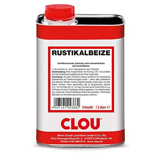 CLOU Rustikalbeize Farbton Nr. 03 5 Liter Verfärbung Holz Betonung Maserung Beize
