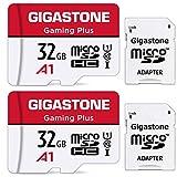 Gigastone 32GB Tarjeta de Memoria Micro SD, Paquete de 2, Gaming Plus, Compatible con Nintendo Switch, Alta Velocidad 90 MB/s, Grabación de Video Full HD, Micro SDHC UHS-I A1 Clase 10
